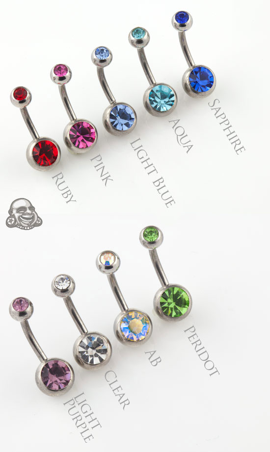 Double Gem Navel (5mm/8mm)