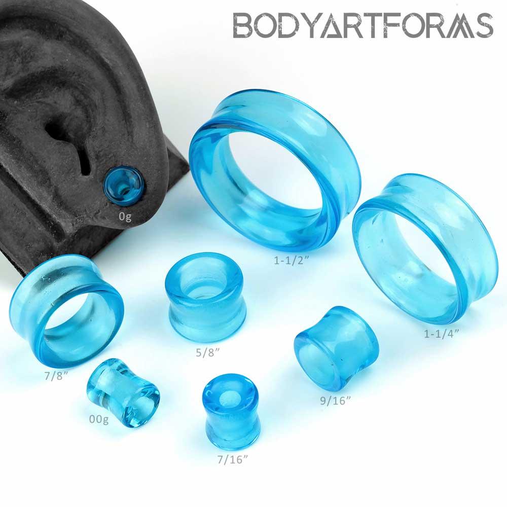 Blue Glass Eyelets