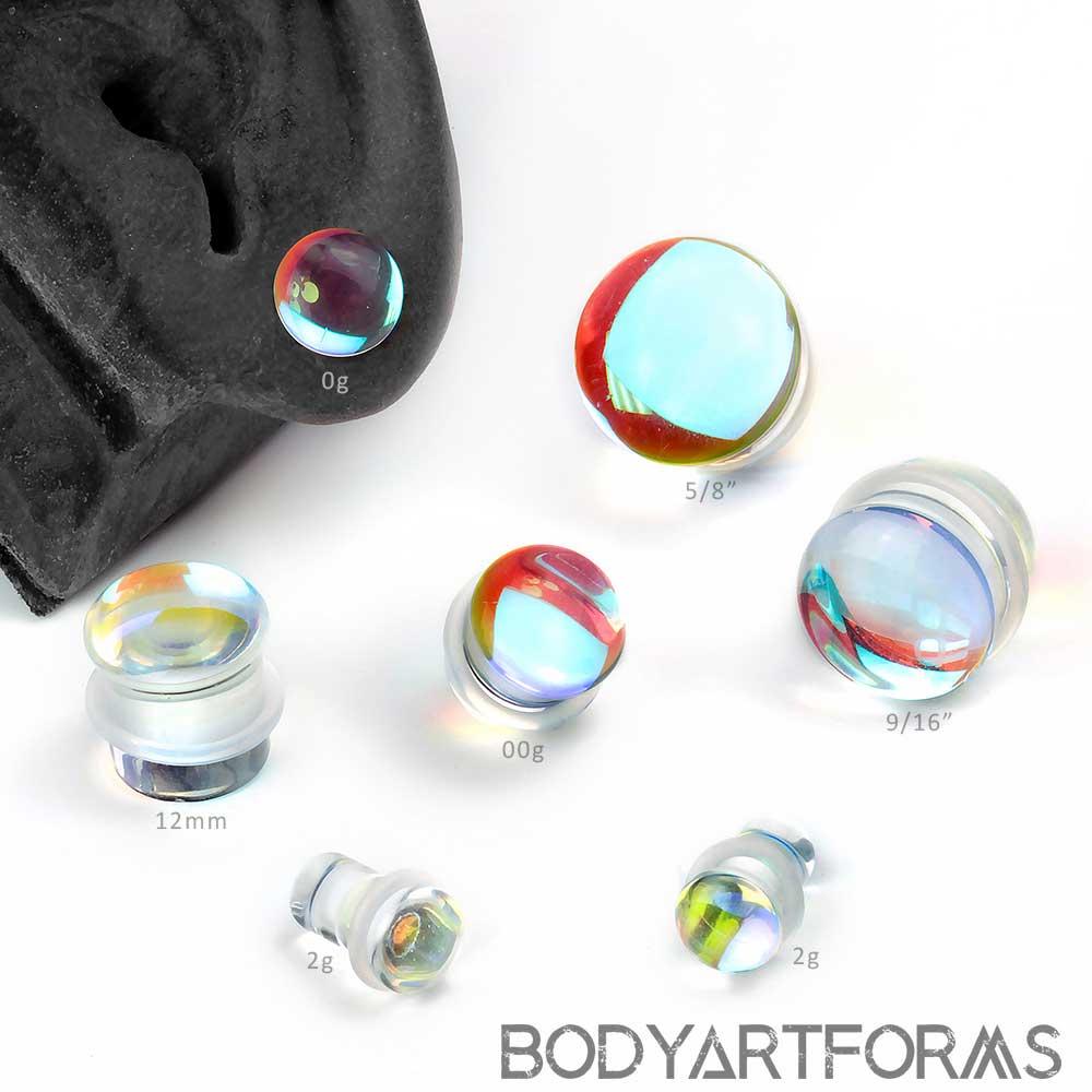 Single Flare Glass Polaris Plugs