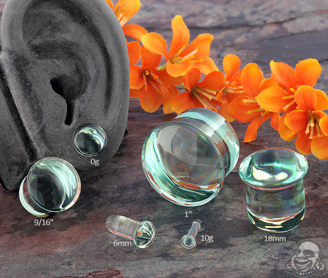 Single Flare Glass Stretching Plugs
