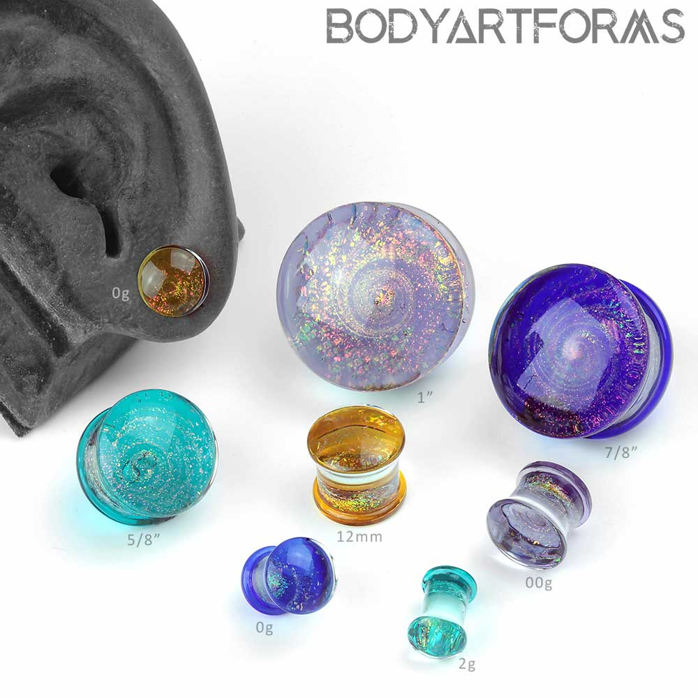 Glass Aura Plugs