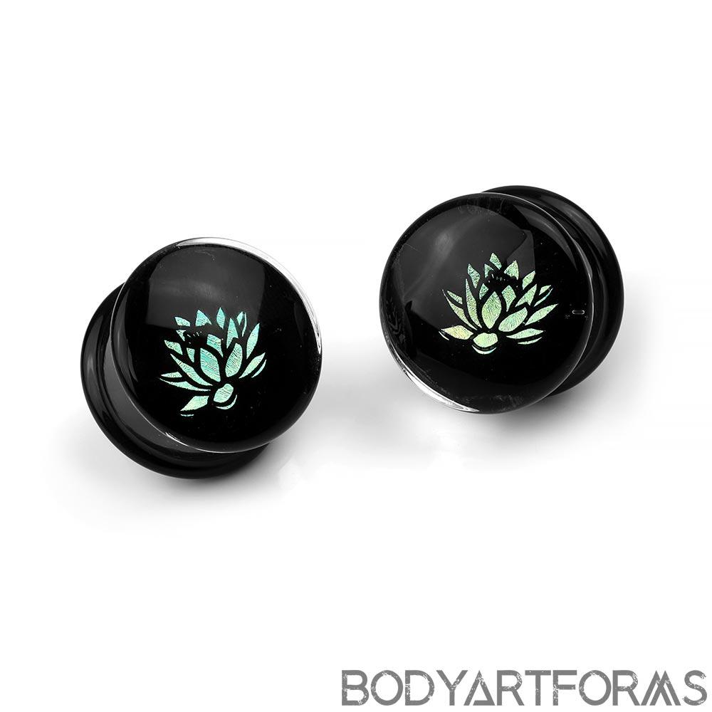 Glass Lotus Dichro Image Plugs