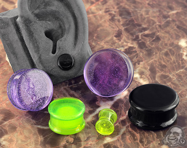 Double Flare Solid Color Pyrex Plugs