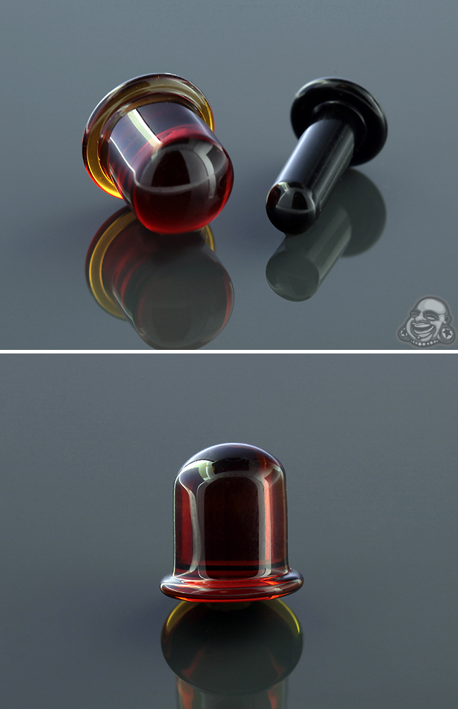 PRE-ORDER Pyrex Glass Flatback Labret with Round Front