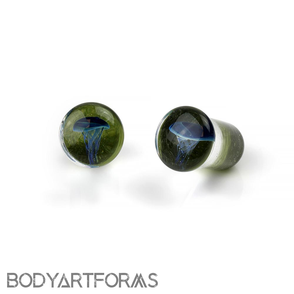 Single Flare Jellyfish Plugs | Blue Moon on Emerald City