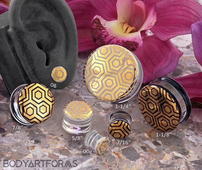 Pyrex Glass Labyrinth Honeycomb Plugs