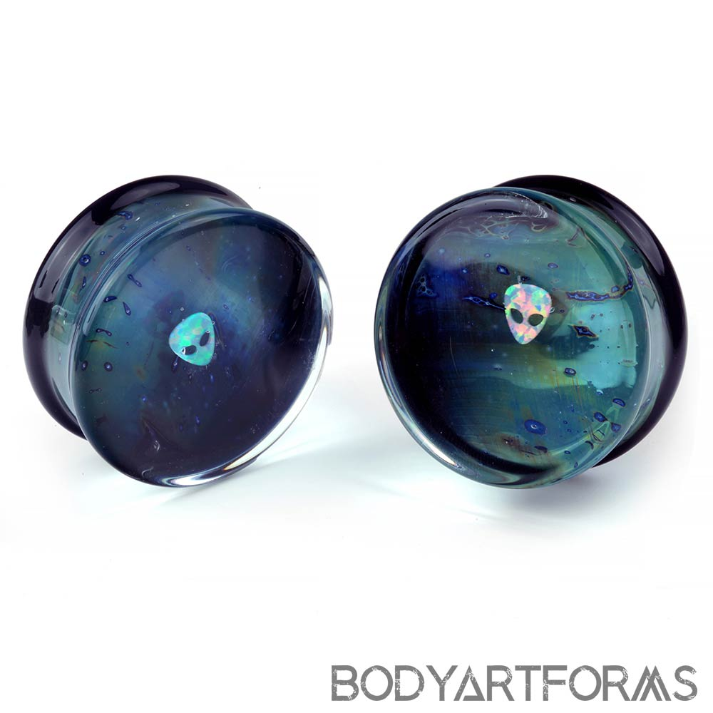 Glass Opal Alien Gaia Plugs