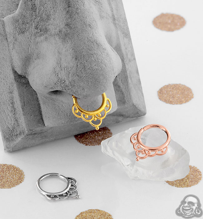 Ornate Seamless Septum Ring