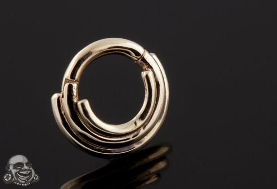 14k Gold Three Ring Circus Clicker