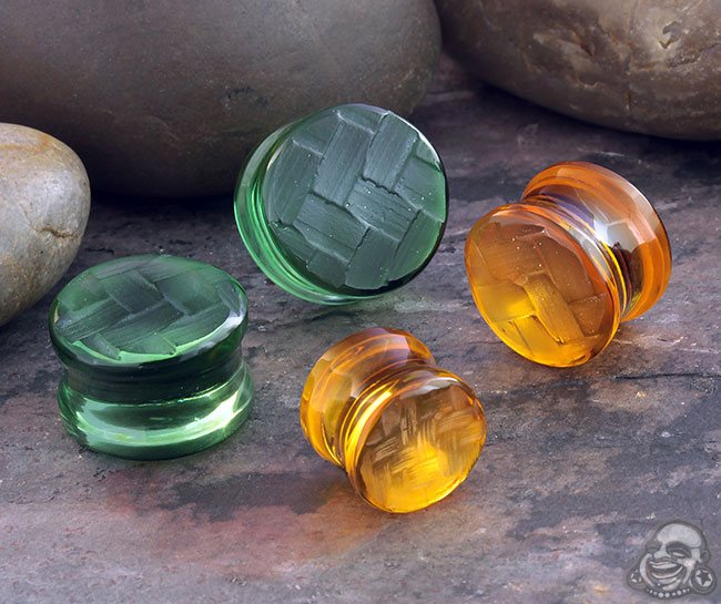 Glass Woven Front Plugs