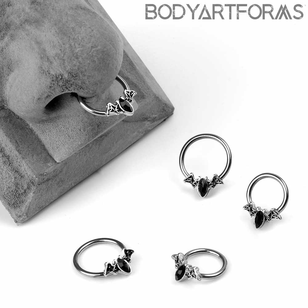 Bat Outta Hell Captive Ring