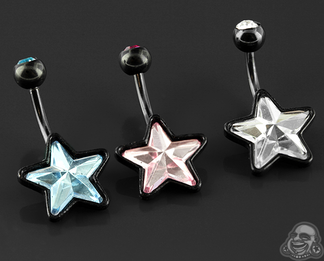 Black-Coat Foiled Star Navel
