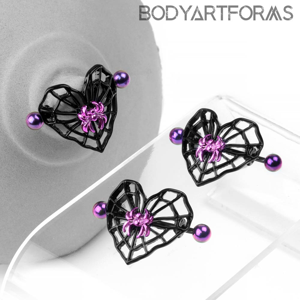Spider Heart Nipple Shield