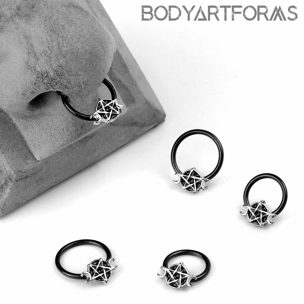 Pentagram Captive Ring