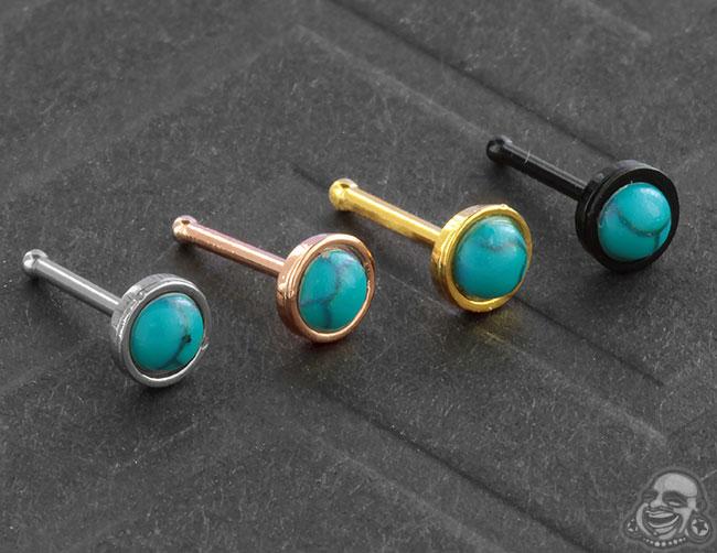 Synthetic Turquoise Nosebone