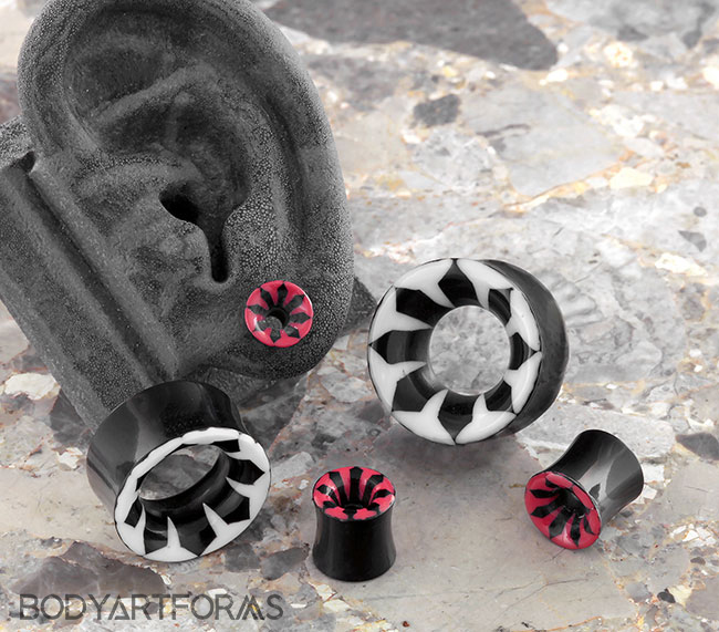 Black Horn Inlayed Eyelets