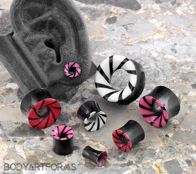 Black Horn Swirl Eyelets
