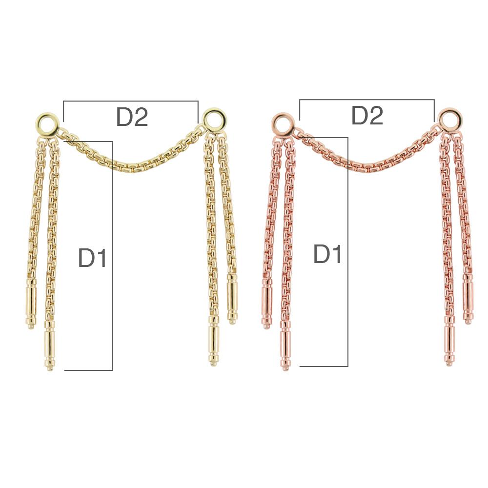 PRE-ORDER 14K Gold Meander V Chains