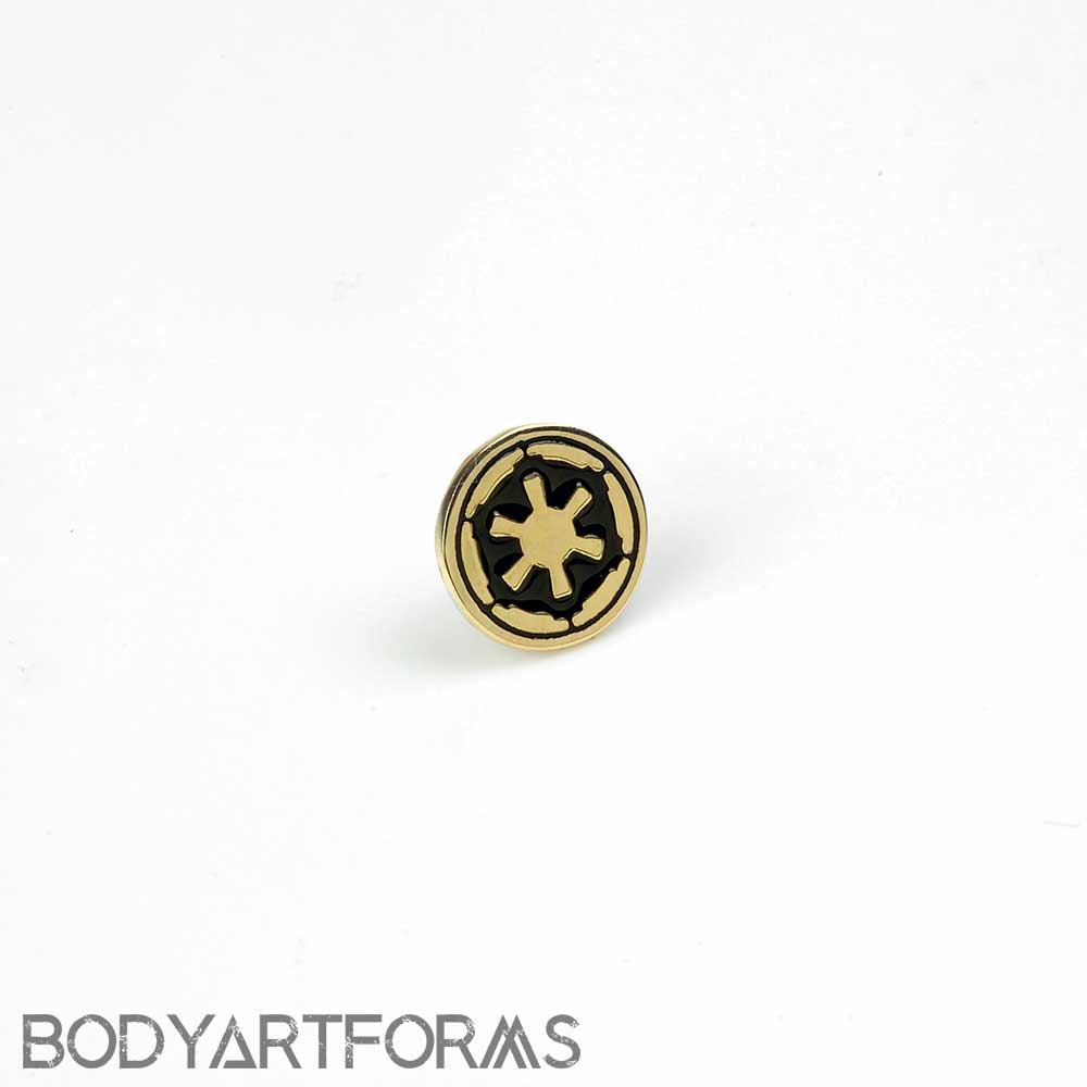 14K Gold Imperial Crest Threadless End