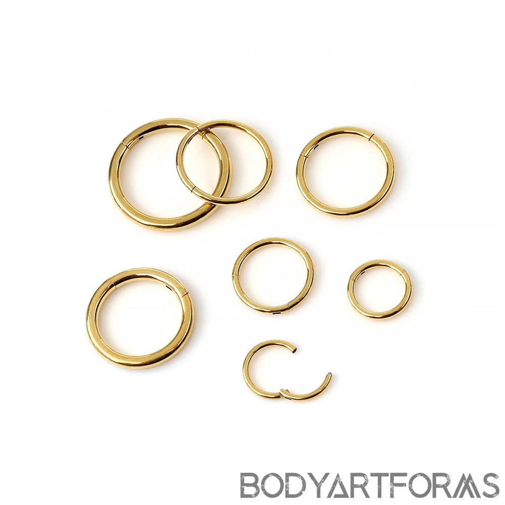 24K Yellow Gold Plated Clicker Rings