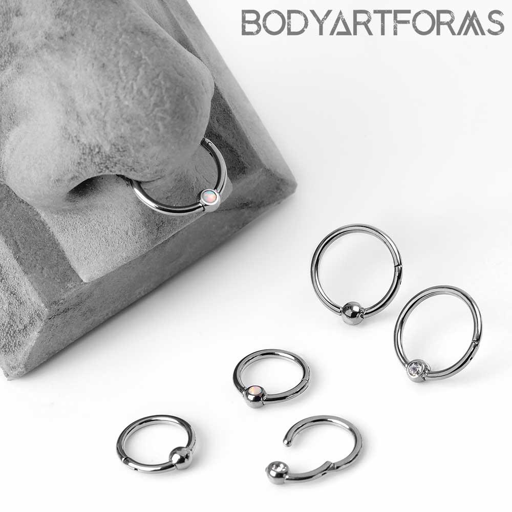 Titanium Captive Clicker Ring