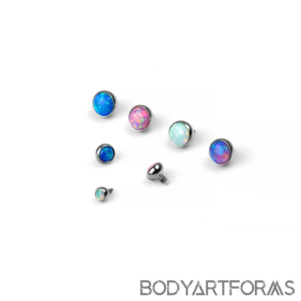 Titanium Internally Threaded Opal Ends