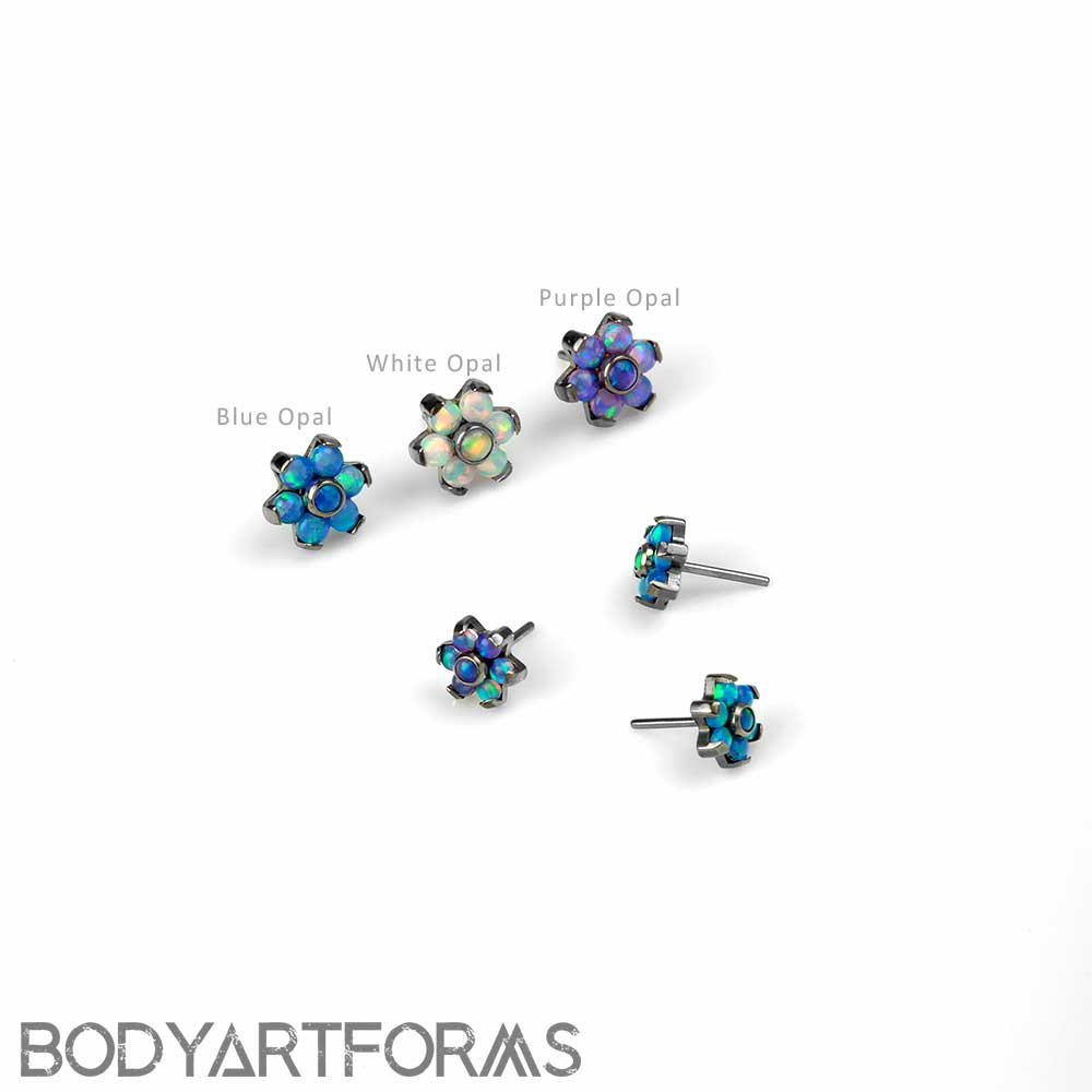 1mm Spring Blossom Flower Cartilage Tragus - Sold as a Pair 18G