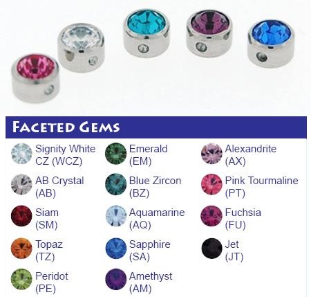 Titanium Faceted Gem Bead (Not Threaded)