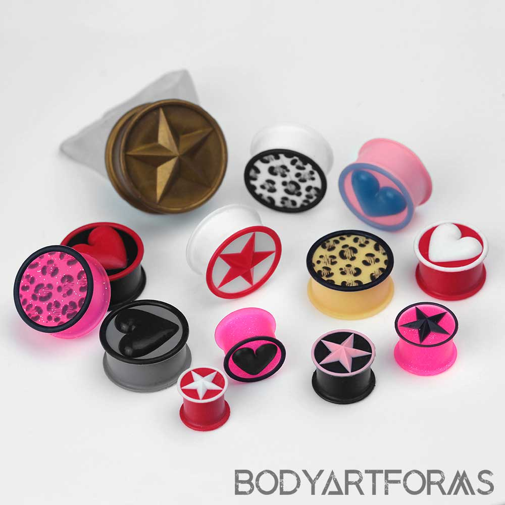 Solid and Design Front Silicone Plug
