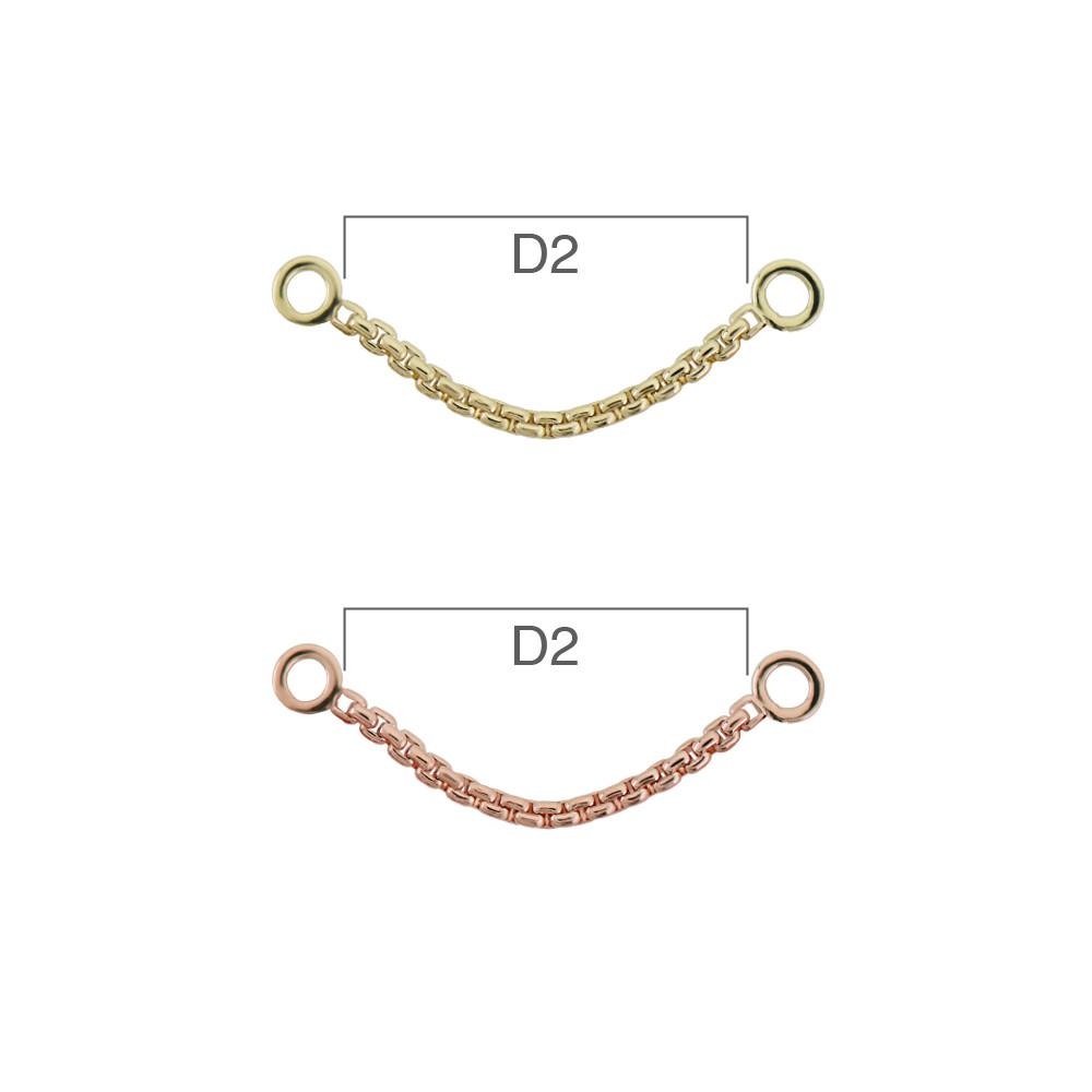 PRE-ORDER 14K Gold Meander VII Chain