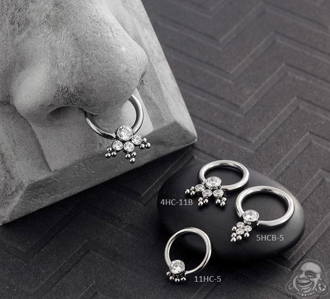 Haute Couture Bijoux Captive Bead Rings