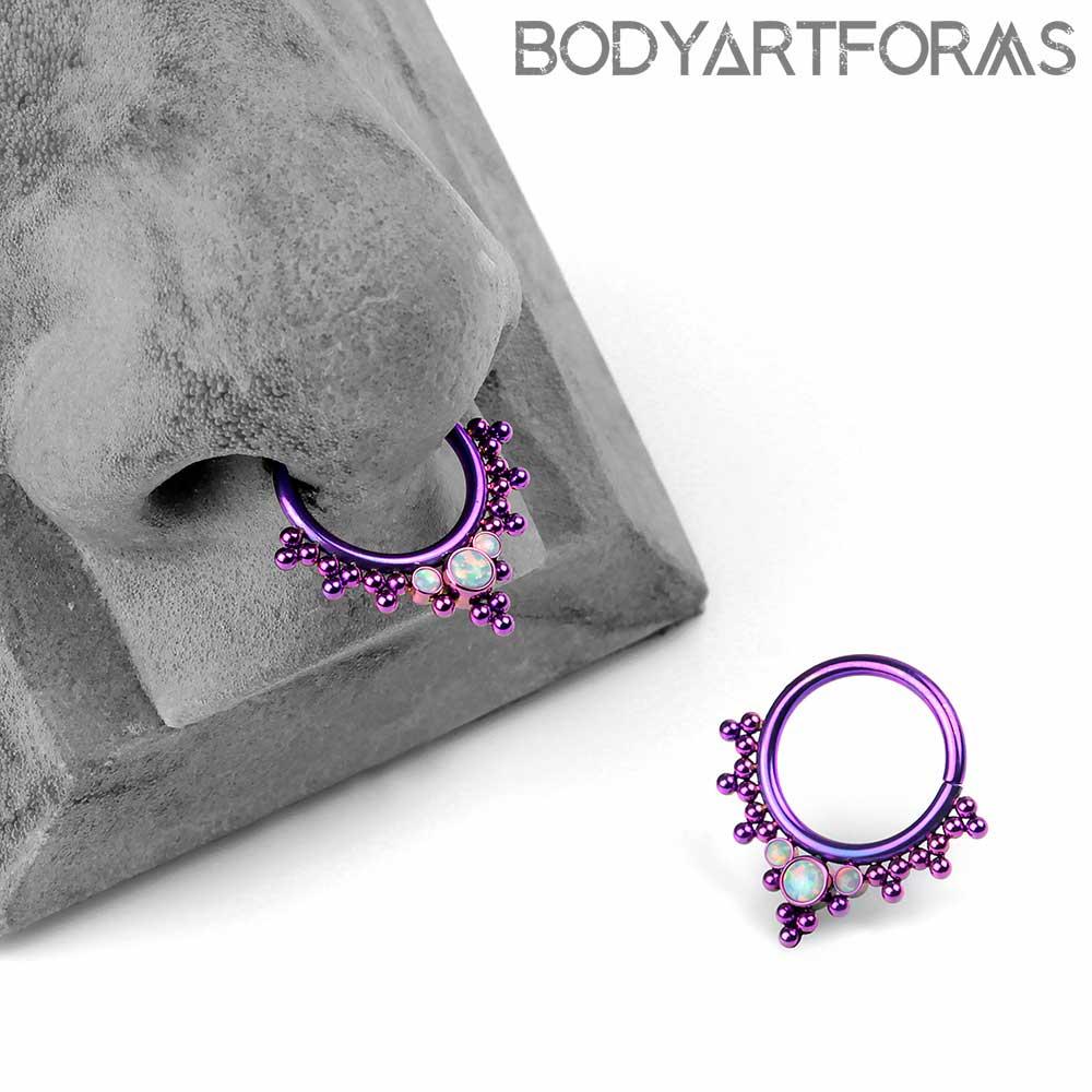 Purple Titanium Haute Couture Bijoux Seamless Rings