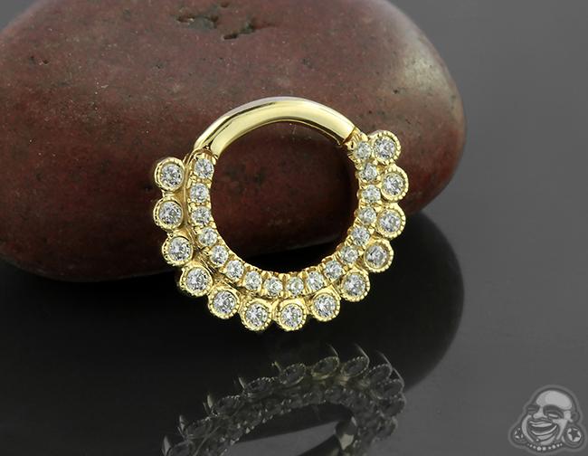 14k Gold Apsara Clicker Ring