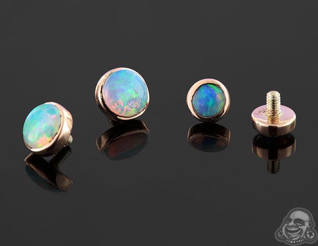 Natural Opal Bezel Set Threaded End