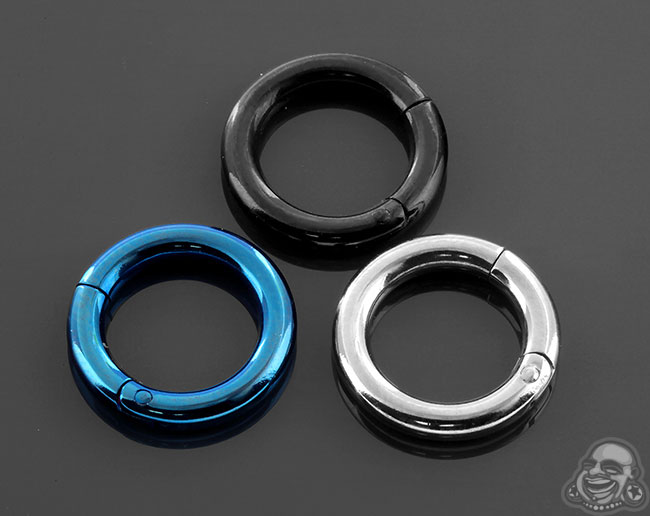 Titanium Clicker Ring