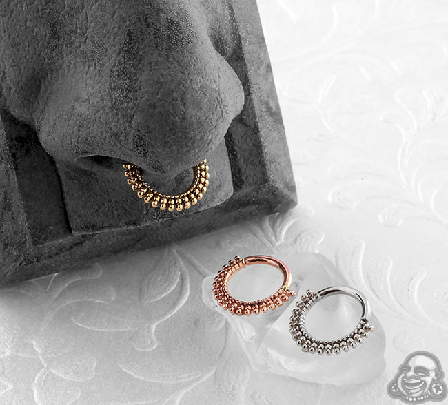 Gold Wanderlust Septum Seamless Ring