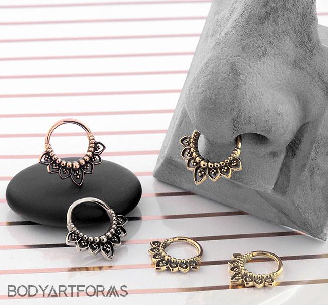 Gold Indigo Septum Seamless Ring