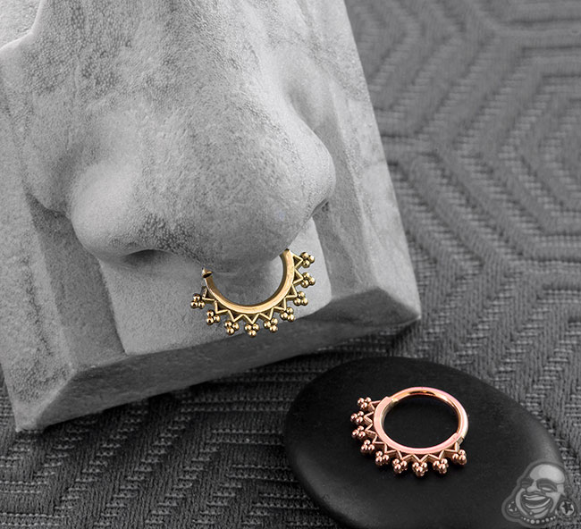 Gold Monarch Septum Seamless Ring
