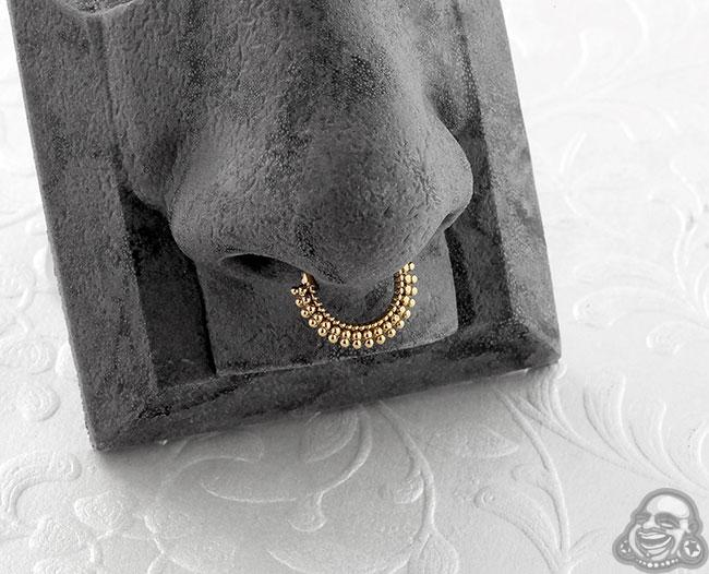 Gold Wanderlust Septum Clicker Ring