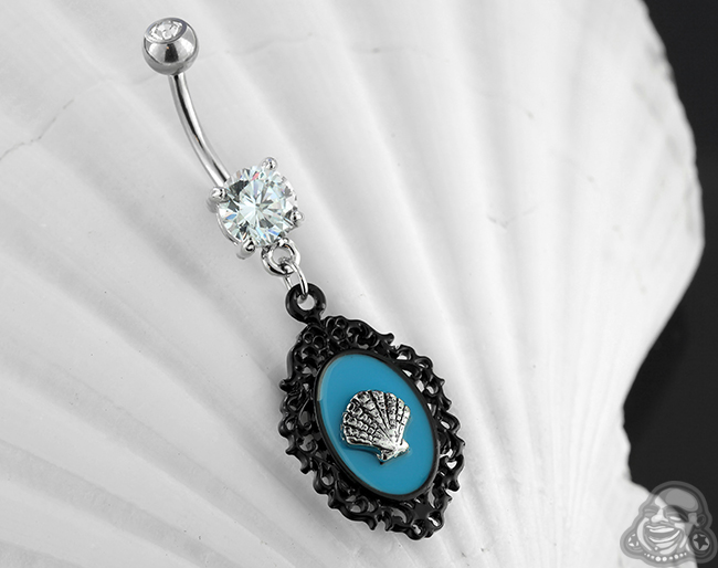 Sea Shell Cameo Navel