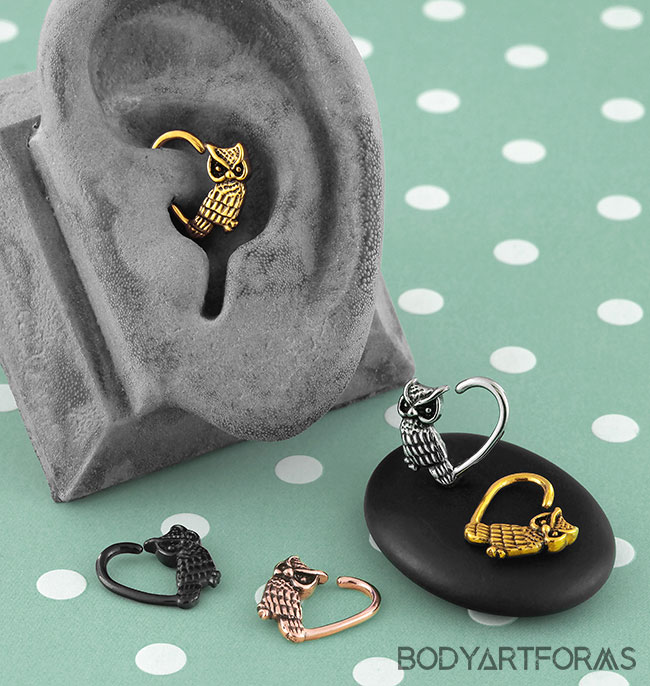 Heart Owl Seamless Ring