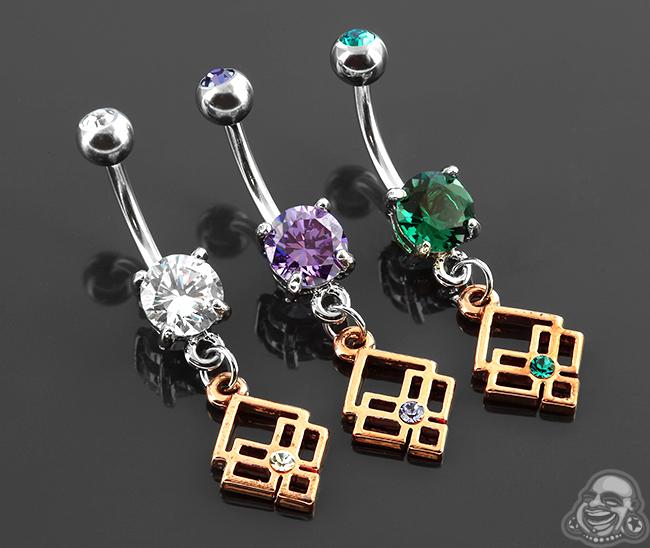 Jeweled Geometric Navel