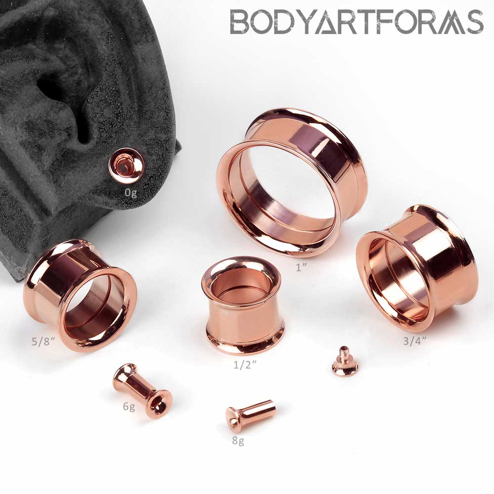 Rose Gold Plated Internally Threaded Eyelets