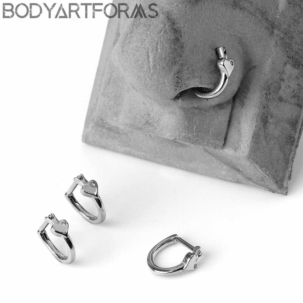 Side Set Heart Rook Ring