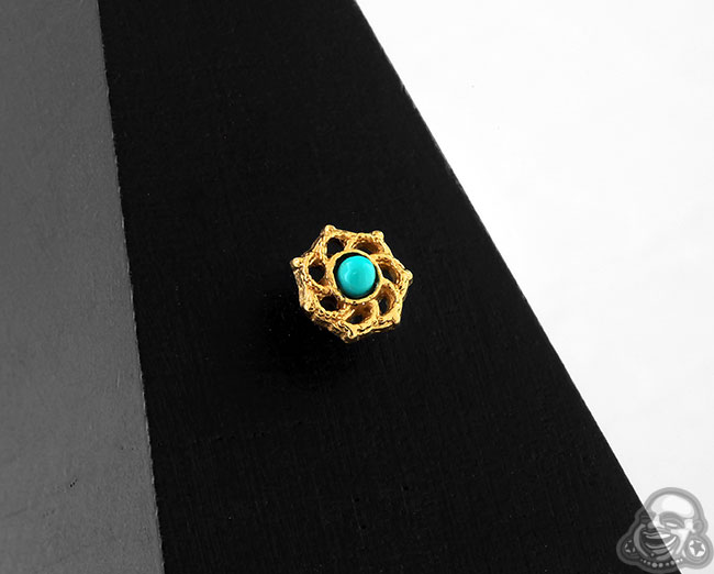 Gold Turquoise Solstice Threaded End