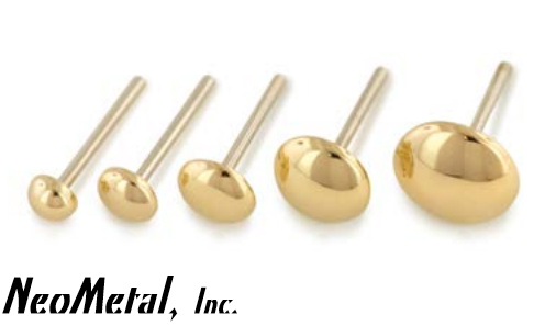PRE-ORDER 14k Gold Dome Threadless End