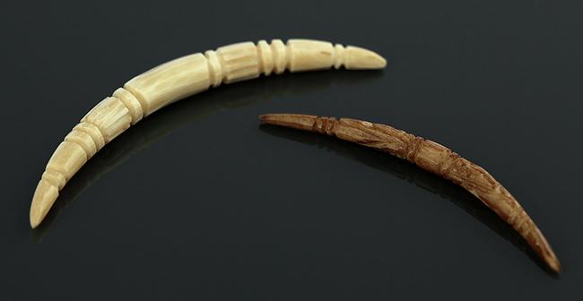 Bone Carved Septum Tusk