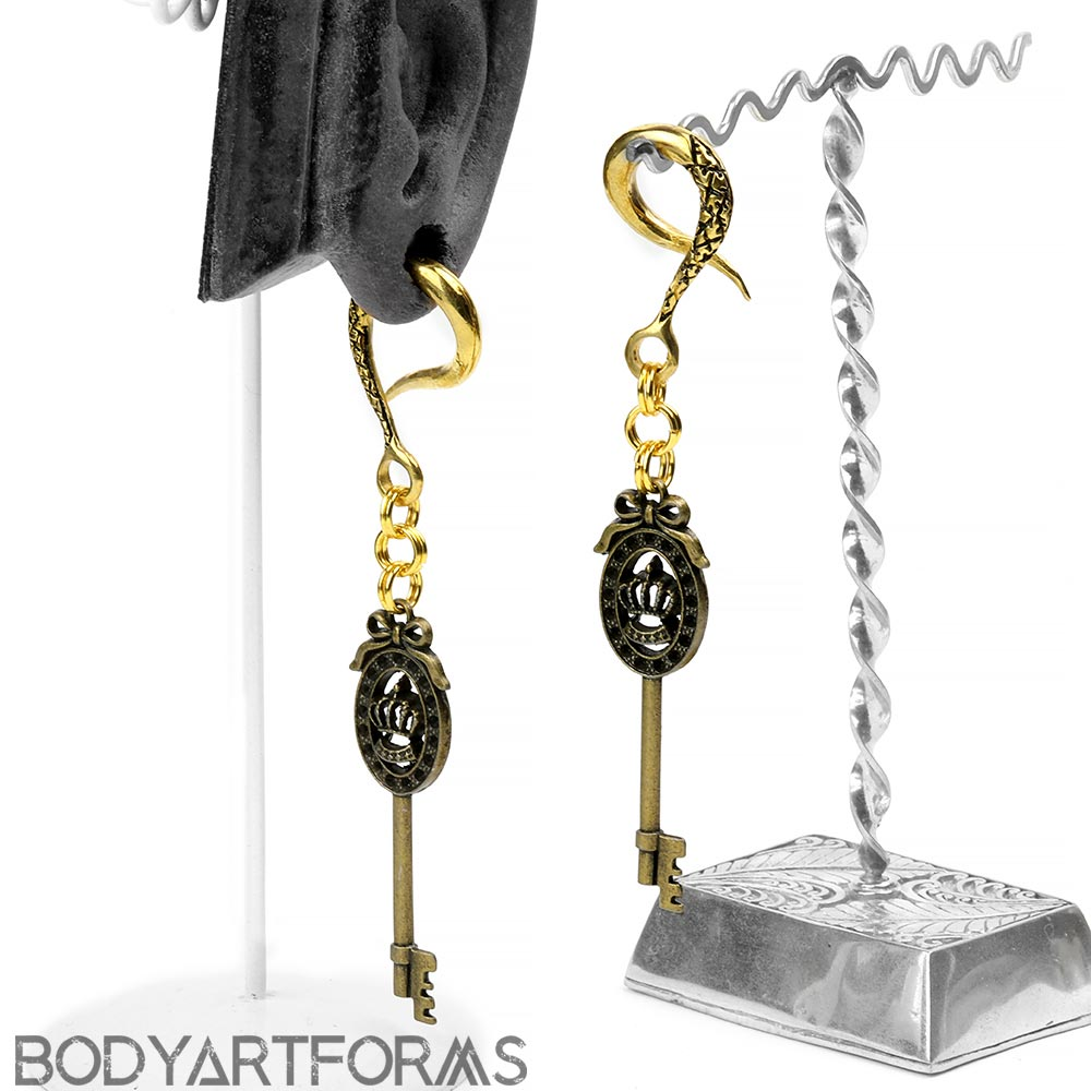 Brass Dangle Weights with Antique Keys