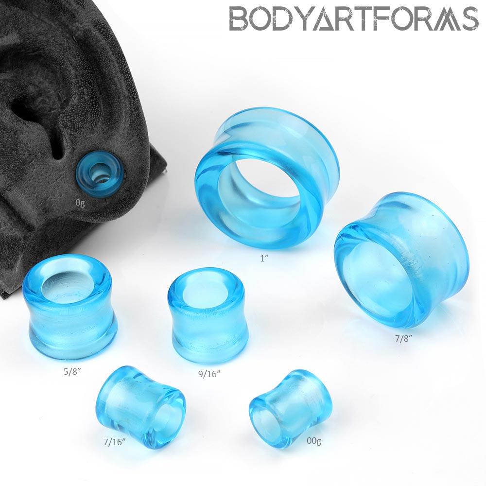 Sapphire Blue Glass Eyelets