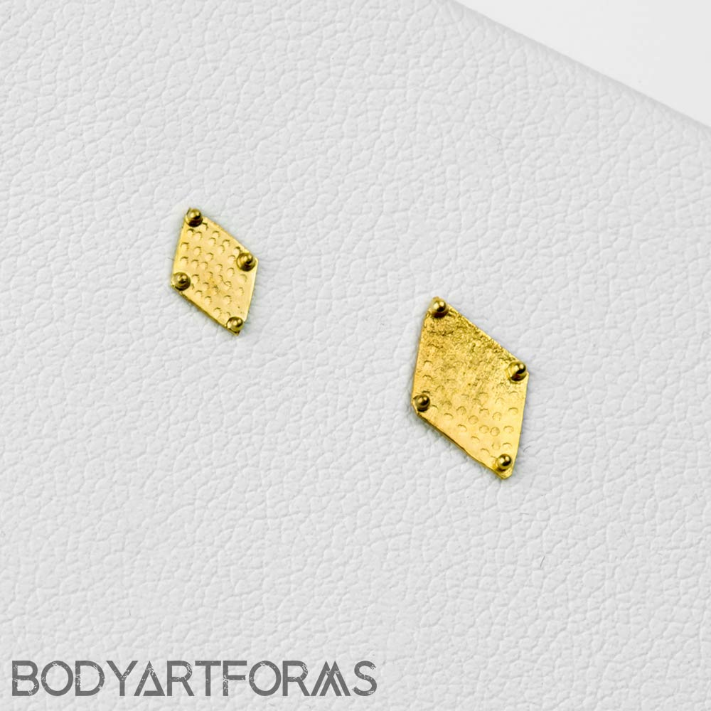 14k Gold Harlequin Threadless Ends